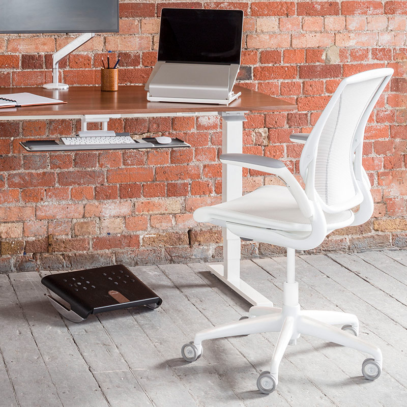 Diffrient Mesh Task Chair with desk