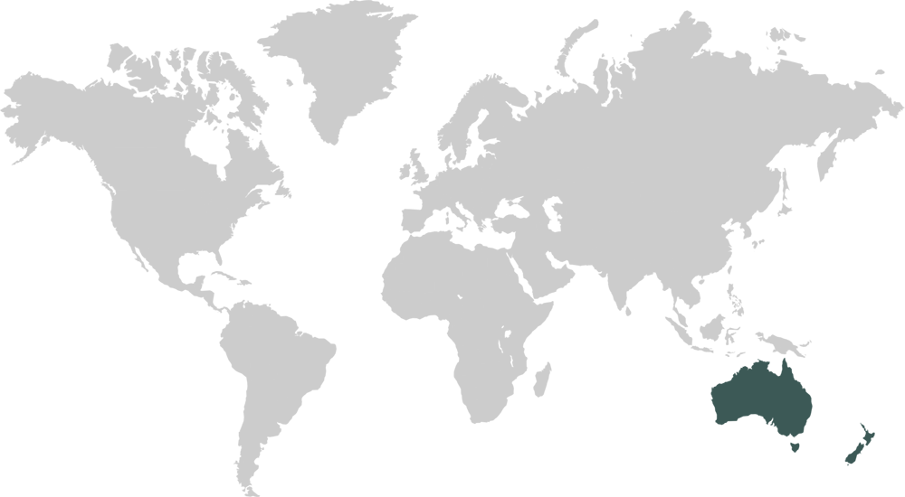World Map Featuring Oceania
